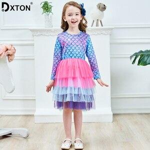 DXTON Princess Kids Dress Winter Girls Party Dress Long Sleeve Baby Dress Children Clothes 2019 Christmas Girls Costumes LH4594(China)