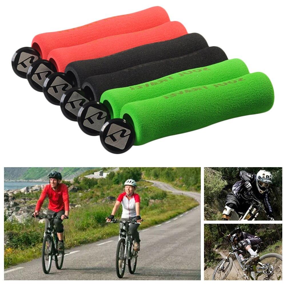 Bike Bicycle Grips MTB BMX Soft Cycling Handlebar Lock On Grips 1 Pair Outdoor