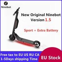 Patinete eléctrico inteligente Ninebot KickScooter V1.5  Scooter plegable e  patín ligero  patín de tabla larga  Stock europeo