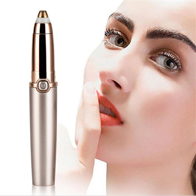 Electric Eyebrow Trimmer Clipper Cutter Makeup Tools Razor Shaver Razor Epilator Painless Portable Battery-Powered Beginner 1