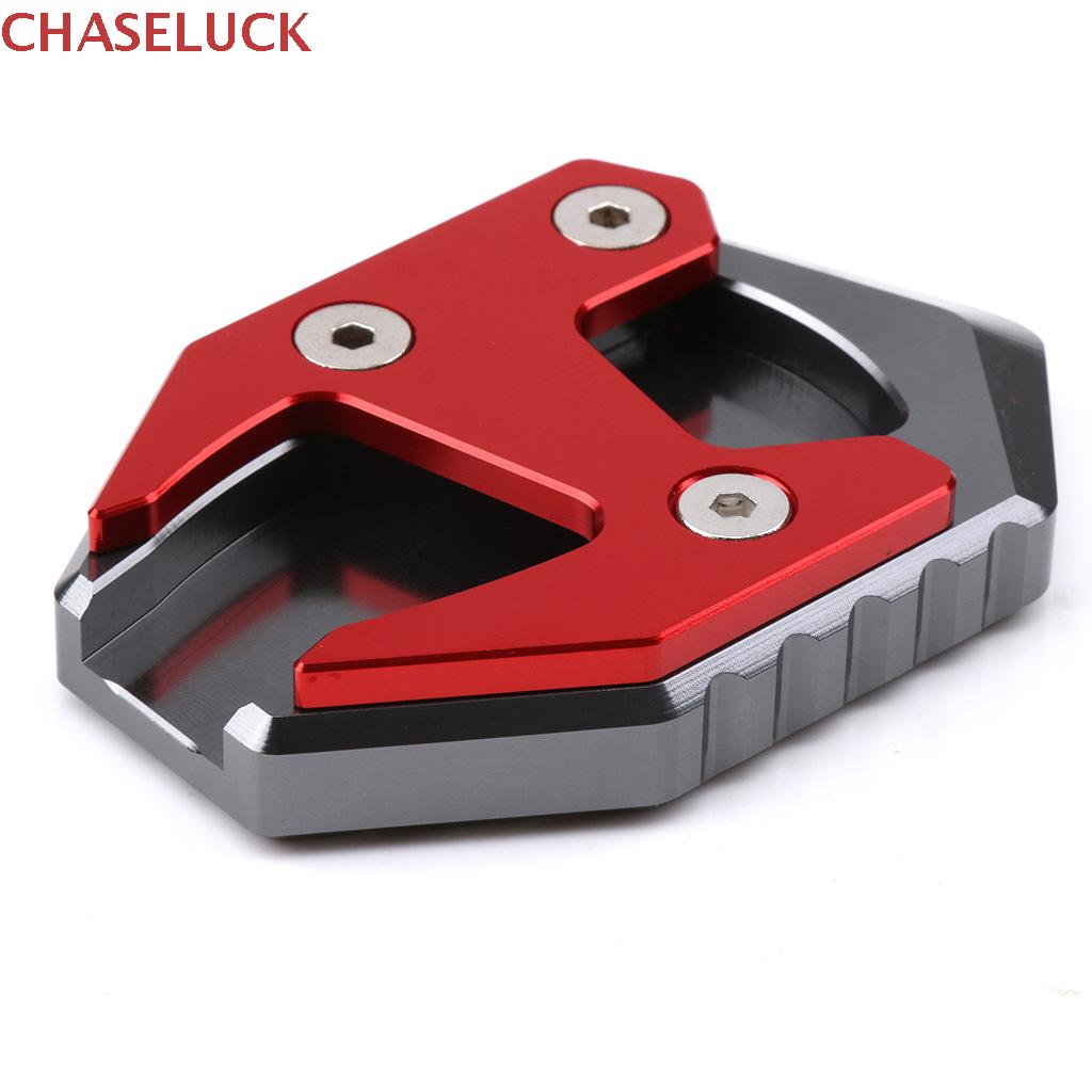 CNC Motorcycle Kickstand Sidestand Extension Enlarger Pad Foot Side Stand Bracket For HONDA Click 125 125i Click125 Click125i image