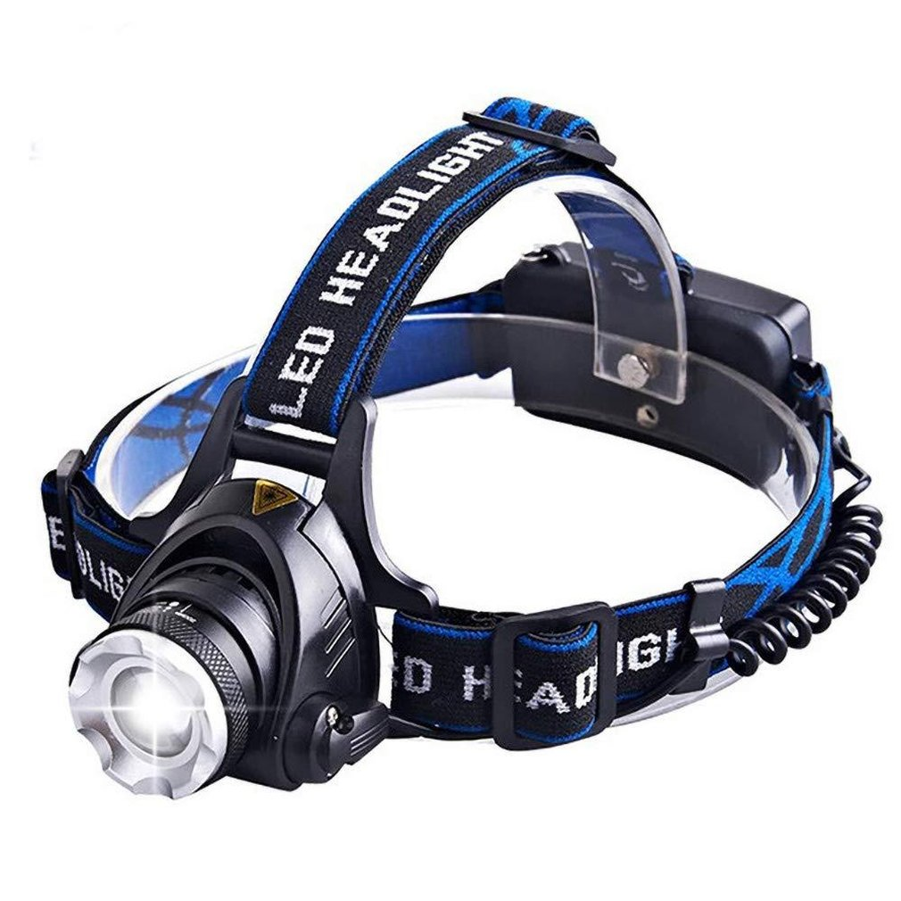 ICOCO Led Headlamp Fishing Headlight T6 Modes Zoomable Lamp Waterproof Head Torch Flashlight Head Lamp For Camping