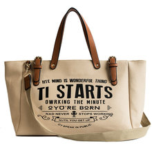 Новинка 2020, женская сумка, модная Холщовая Сумка-тоут в европейском и американском стиле, женские вместительные кожаные сумки-мессенджеры н...