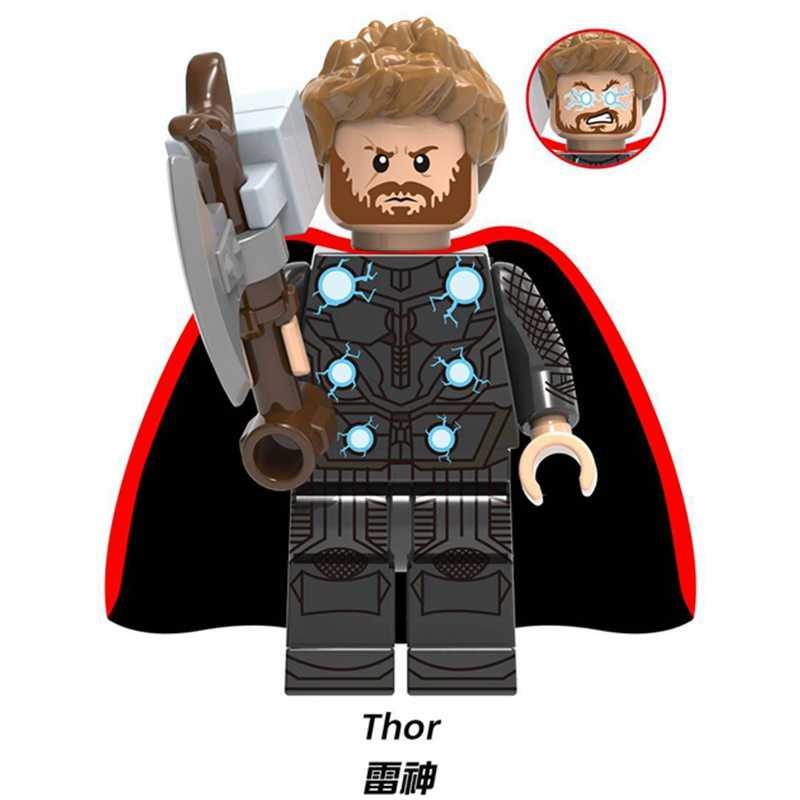 Người Nhện: xa Gia Đình Người Nhện Người Sắt Thor Thanos Deadpool Batman Captain Marvel Avengers Khối Xây Dựng Nhân Vật Đồ Chơi