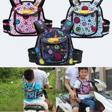 2021 New Kids High Strength Motorcycle Bike Scooter Safety Seat Strap Harness Adjustable Cartoon Anti-fall Belt for Children