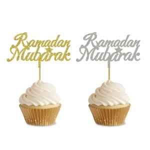 Image 5 - 20 Chiếc 3X5 Inch EID Cupcake Topper Nikkah Mubarak EID Mubarak Hajj Mubarak Umrah Mubarak Cupcake Quán Quân Cho EID Al fitr Trang Trí