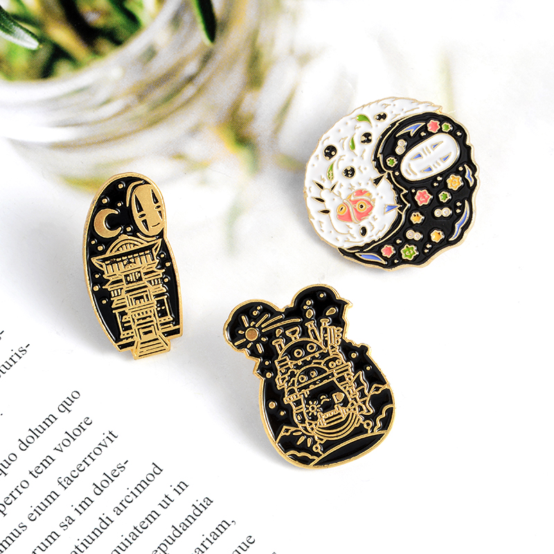 Cartoon Movie Enamel Pin Custom Japanese Anime Brooches Taichi Badge for Bag Lapel Pin Buckle Jewelry Gift for Kids Friends 6