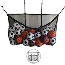 Large-Capacity Swimming Pool Storage Bags Foldable Hook Mesh Bag Football Basketball Storage Bag Home Clutter Storage Net Bags