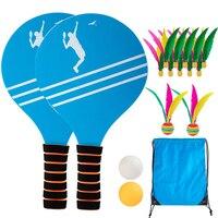 Esportes ao ar livre formação praia fitness cricket shoot para crianças casa entretenimento badminton paddle jogo de madeira conjunto tênis indoor