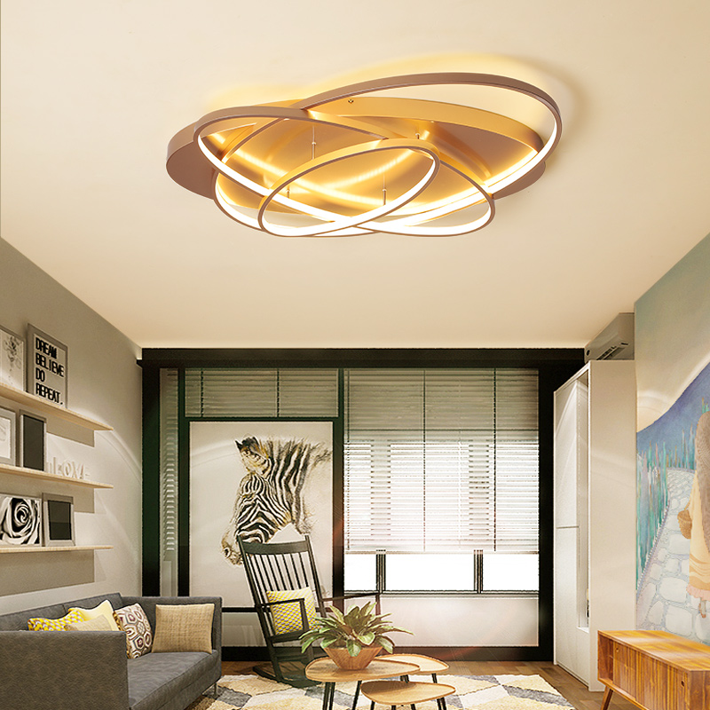Oval Led Chandelier Lights Luminaire Plafonnier For Living Room Kitchen Bedroom Lamp Modern New Light Fixtures Lighting Dimmable-in Chandeliers from Lights & Lighting