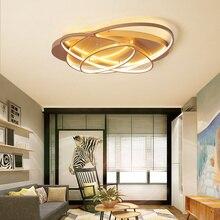 Owalne Led żyrandol oprawa Plafonnier do salonu kuchnia lampka do sypialni nowoczesne nowe jasno oprawy oświetleniowe możliwość przyciemniania