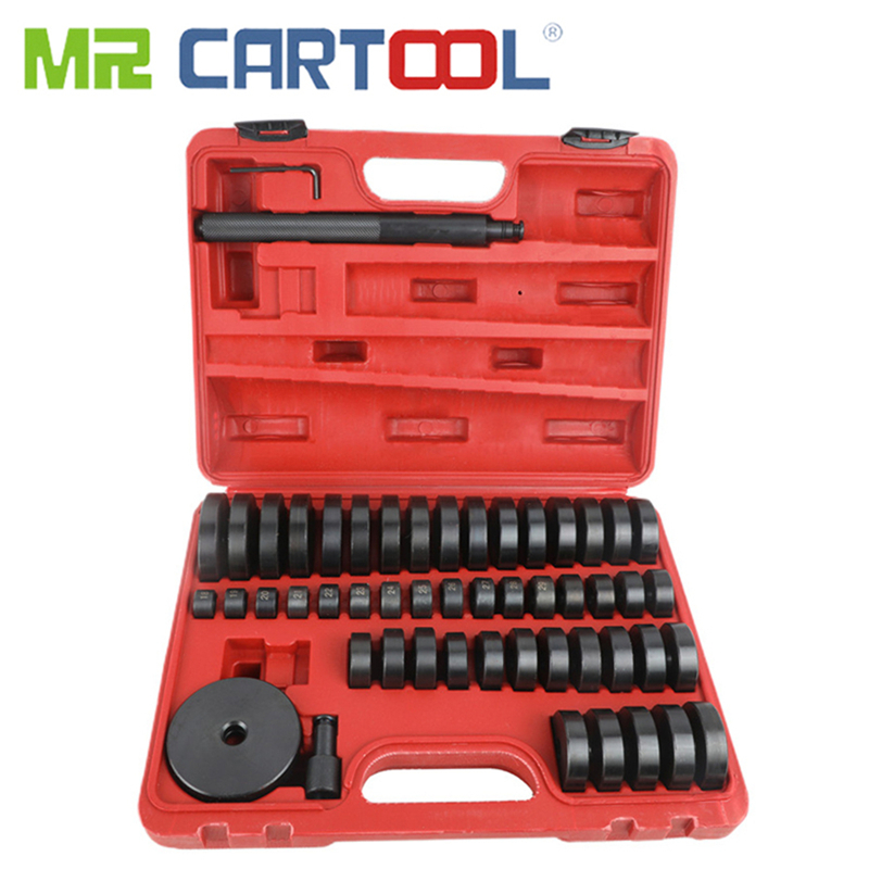 MR CARTOOL 51Pcs Custom Disc Bearing Seal Driver Pressure Disc Tool Set 18-65mm Bush/Bearing/Seal Driver Kit Car Repair Tool
