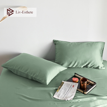 Liv-Esthete Luxury Women Noble Green100% Silk Pillowcase Nature 25 Momme Silk Multicolor Standard Pillow Case Free Shipping