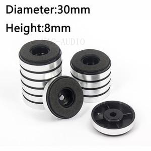Image 1 - 12PCS 30*8mm Plastic mats Amplifier Feet Speaker Turntable CD Player Computer DAC Machine Feet