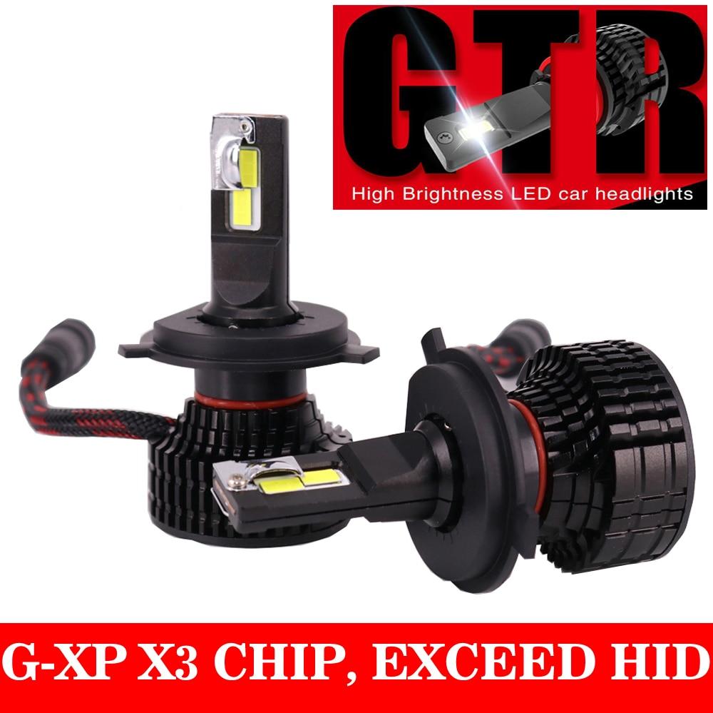 1 Set H8 H9 H11 H16JP G-XP X3 GTR LED Headlight H4 9003 H7 9005 9006 HB3/HB4 9012 HIR2 Turo Fan White 6K Lamps Bulbs 50W 8000LM