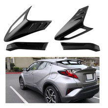 For Toyota C-HR CHR C HR 2017 2018 ABS Rear Light Lamp Cover Trim Tail Light Cover Frame Protector Sticker Car Styling Accessory citall 2pcs abs black headlight head lamp light brow deco cover trim sticker car styling fit for toyota camry se xse 2018 2019