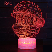 Mario series 3D Night light Colorful touch remote control LED lamp Small table lamp Bedside lamp Creative lights Decorative lamp