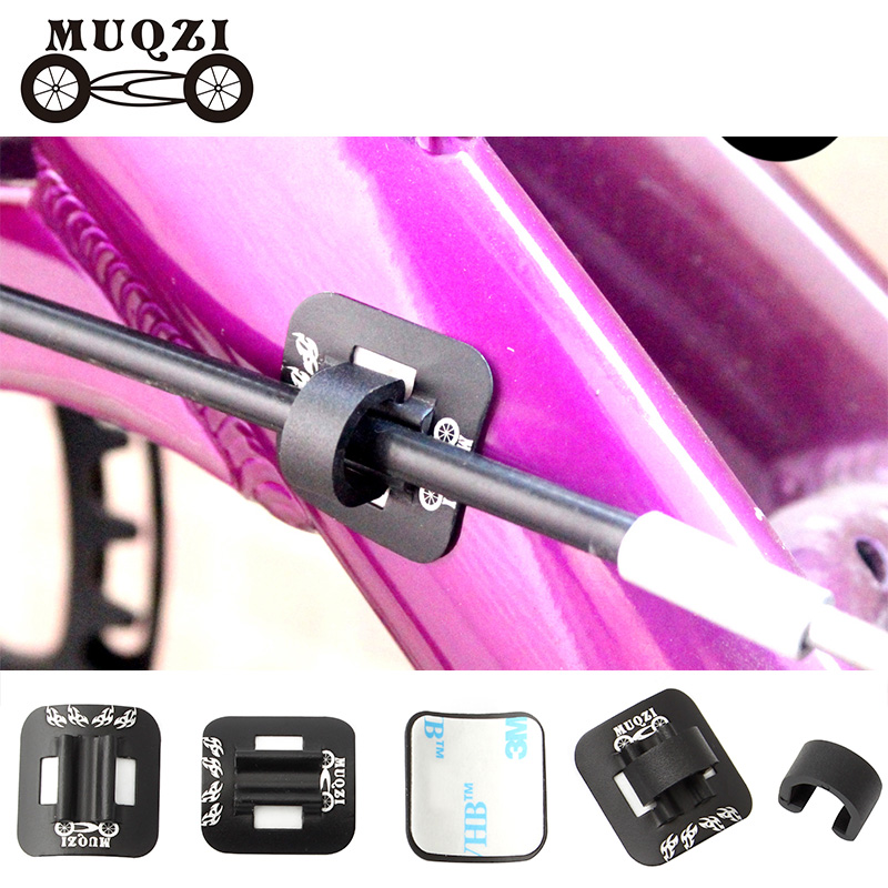 MUQZI 5PCS Bicycle Brake Cable Fixed Clamp Conversion Seat Tubing Seat Oil Tube C Shape Buckle Mountain Road Bike