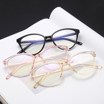 Fashion Optical Glasses Blue Light Blocking Eyeglasses Frame Women Men Cat Eye Spectacles Clear Lenses Glasses Computer Oculos 1 61 anti blue ray prescription optical eyeglasses spectacles lenses 1 pair rx able lenses free assembly with glasses frame