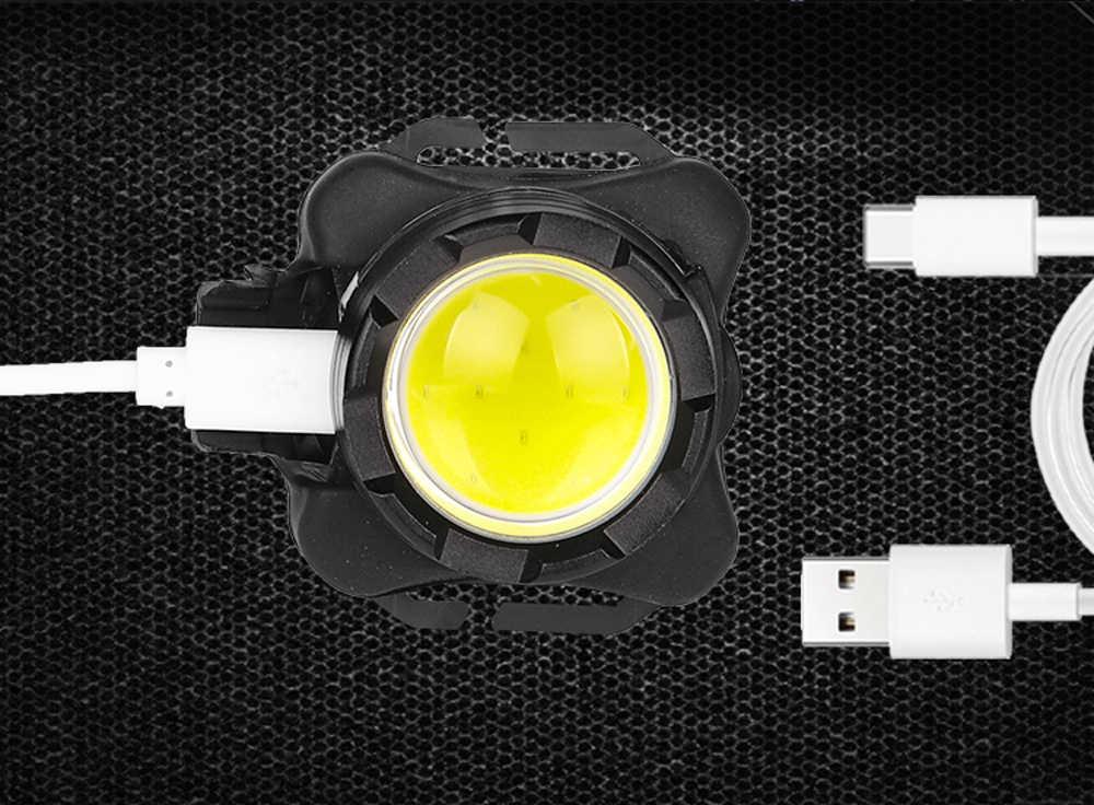 35000лм USB перезаряжаемая фара COB фара светодиодный головной свет водонепроницаемая лампа со встроенным аккумулятором белый красный свет