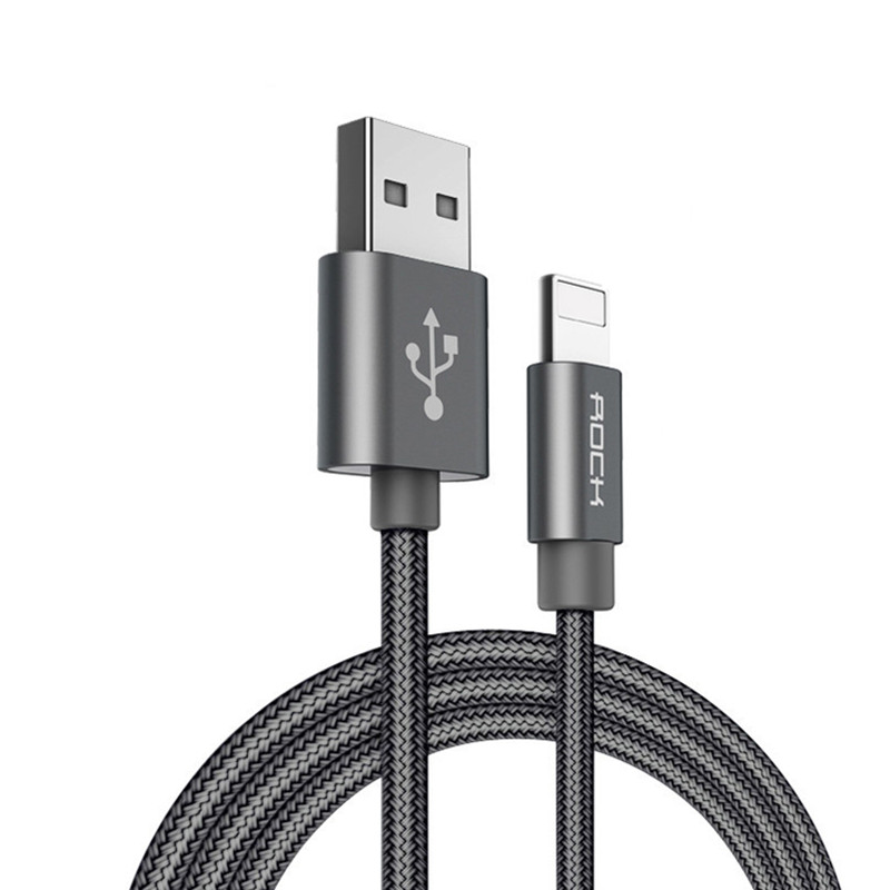 ROCK 3.1A USB Cable for iPhone Lighting Fast Charging USB Charger Cables Cord For iPhone 11 X 8 7 6 Pro XR Max iPad 1M 2M Wire|Mobile Phone Cables|   - AliExpress