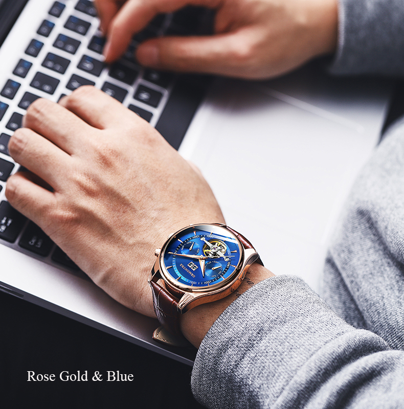 Hb04d2b8450fc46938d2650362b536d0eL Skeleton Tourbillon Mechanical Watch Men Automatic Classic Rose Gold Leather Mechanical Wrist Watches Reloj Hombre 2018 Luxury