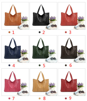 Leather women bag handbag 2020 new European and American fashion first layer leather shoulder bag Tote