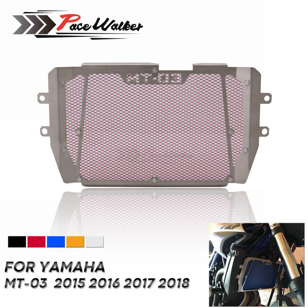 Motorcycle Parts Motorcycle Radiator Grill Grill Shield Cover For Yamaha <font><b>MT</b></font>-<font><b>03</b></font> <font><b>MT</b></font>-25 MT03 MT25 <font><b>MT</b></font> <font><b>03</b></font> <font><b>MT</b></font> 25 2015 2016 2017 <font><b>2018</b></font> image