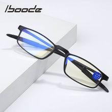 Iboode TR90 Anti-Luz Azul lector gafas de lectura de los hombres y las mujeres portátil ultraligero gafas de presbicia + 1,0, 1,5, 2,0, 2,5 3 3,5 4