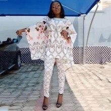 Африканский Дашики модный костюм топ и брюки супер эластичные вечерние Большие размеры для леди платья