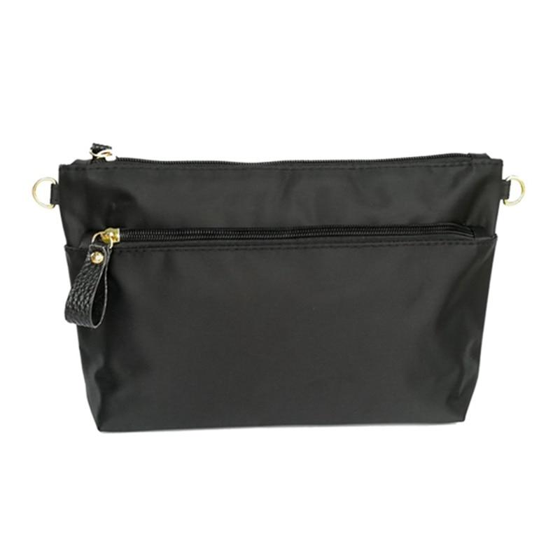 BEAU-Women Cosmetic Bag Organizer Insert Travel Makeup Case Pocket Tote Storage Large Capacity Cosmetic Purse Insert Bag In Bag