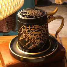 2021 Arabic Resin Incense Burner Set Middle East Ceramics Incense Holder Aromatherapy Furnace Home Decoration Crafts Christmas G
