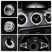 Autocollant diamant pour décoration intérieure de voiture, autocollant dédié au style, pour Mercedes Benz GLA200 CLA220CLA260 CLA200