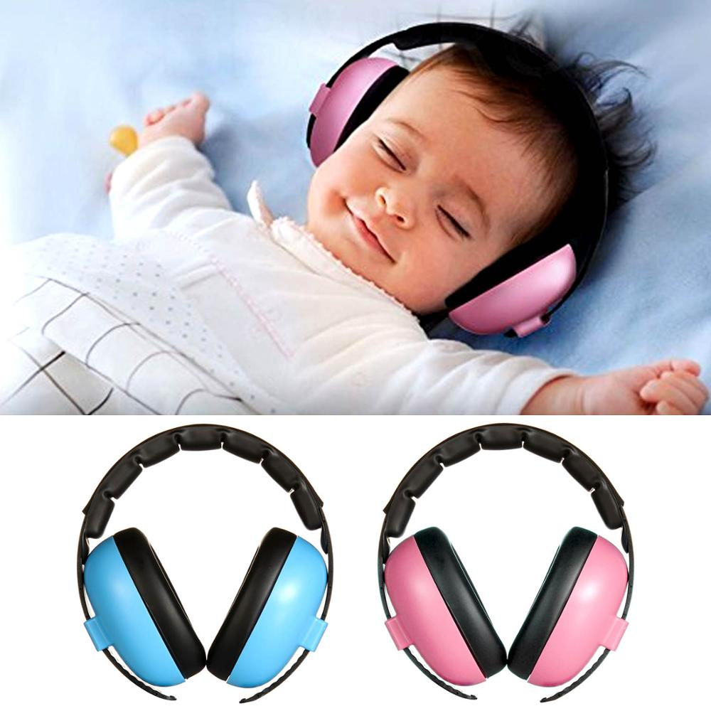 Adjustable Soft Baby Ear Hearing Protector Earmuffs Baby Noise Reducing HeadPhones Ear Muffs Noise Defenders Headset Ear Muffs