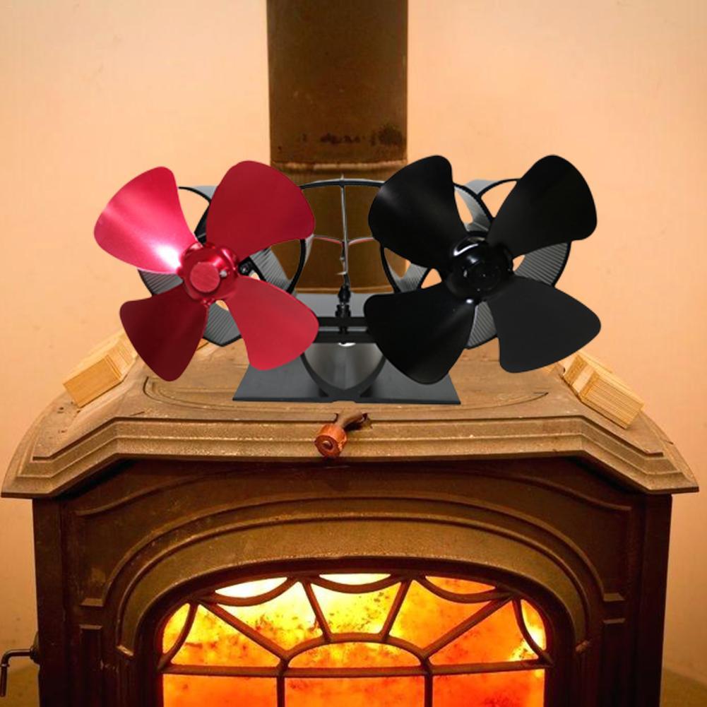 Fireplace Fan 8 Blade Heat Powered Stove Fan Wood Burner Eco Friendly Quiet Fan Home Efficient Heat Distribution Winter Supply