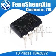 10pcs/lot TDA2822M DIP8 TDA2822 DIP 2822M DIP-8  DUAL LOW-VOLTAGE POWER AMPLIFIER IC