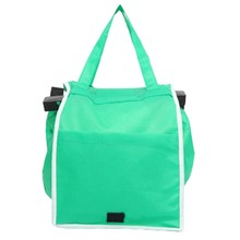 1pc Women Foldable Large Shopping Bags Trolley Clip-To-Cart Grocery Shopping Totes Portable Reusable Eco-friendly Bags Handbags(China)