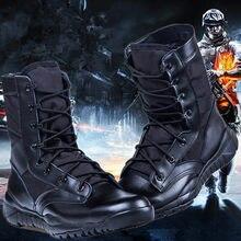 Зимние черные уличные унисекс походные ботинки легкие мужские