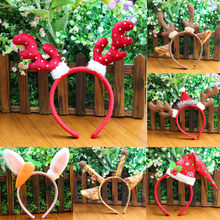 Hot New Year 2019 Merry Christmas Cosplay Headband Santa Xmas Party Decor Double Hair Band Clasp Head Hoop Toys Xmas Navidad @50(China)