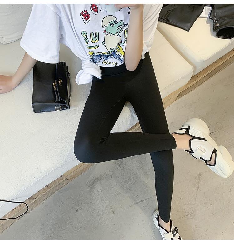 Hb04dc030dae34da486fb10feed32b3604 BIVIGAOS New Women Sharkskin Black Leggings Thin Workout Stretch Sexy Fitness Leggings Skinny Legs Slimming Sport Leggings