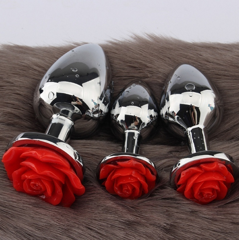 New Stainless Steel Crystal Anal Toy Butt Plug Stainless Steel Anal Plug Female Sex Toy Adult Sex Products Anal Plug