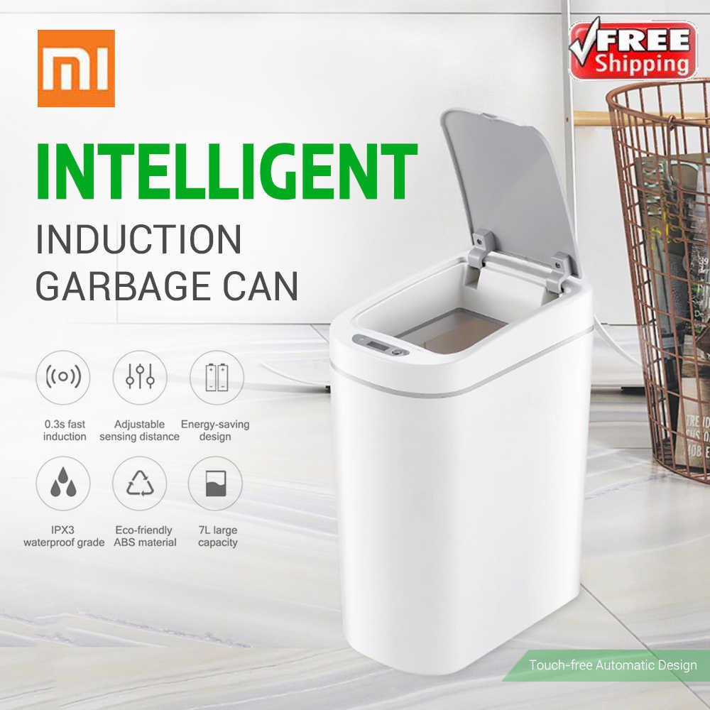 Xiaomi Mijia NINESTARS Trash Can Sensor de Movimento Inteligente 7L IPX3 Tampa de Lixo Ashcan Caixas Auto Selagem Indução LEVOU À Prova D' Água