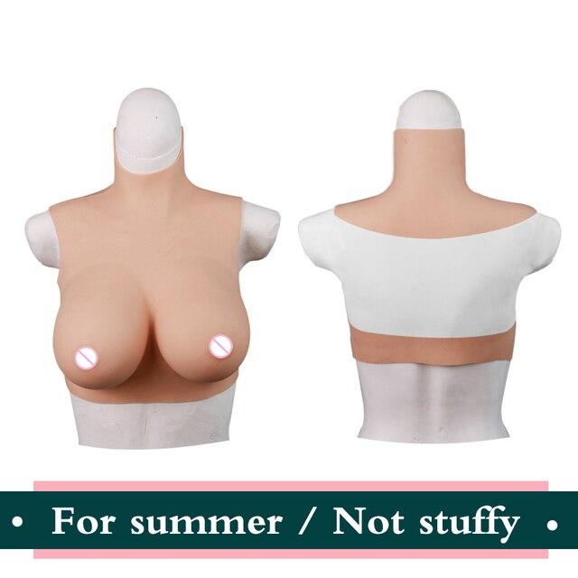 ملابس الصيف شكل الثدي ل كروسدرسر واقعية لاصق سيليكون كاذبة الثدي كروسدرينغ الثدي الذكور إلى الإناث الثدي