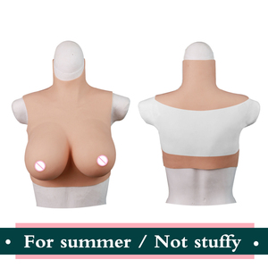 Image 1 - Crossdresser 현실적인 접착제 실리콘 거짓 가슴에 대한 여름 착용 유방 양식 여성 가슴에 유방 남성 Crossdressing