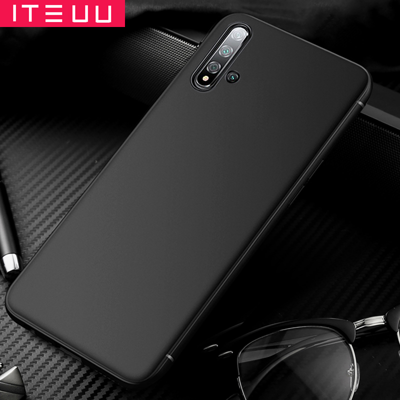ITEUU Ultra Thin Soft Matte Case for Honor 20 20 PRO 20i V20 Cases TPU Back Cover Shell for Honor 10 Lite in Fitted Cases from Cellphones Telecommunications