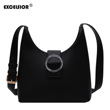 EXCELSIOR PU Leather Crossbody Bag PVC Buckle Womens Shoulder Bags INS Stylish Subaxillary New Fashion Handbags