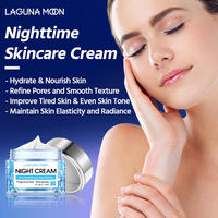 LAGUNAMOON Face Cream Skin Renewing Night Cream For Face Peptide Complex Hyaluronic Acid Hyaluronic Face Moisturizer For Women 5
