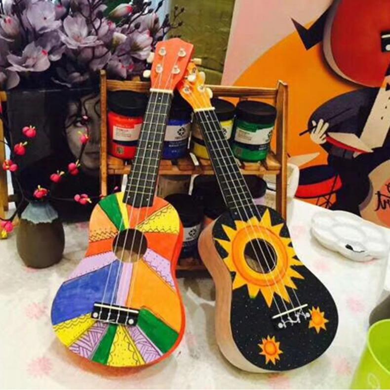 21 Polegada simples ukulele kit diy havaí