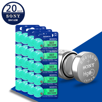 20Pcs/Lot For Sony New LONG LASTING 337 SR416SW 623 D337 V337 SP337 Watch Battery Button Coin Cell For Watch Car Remotes image