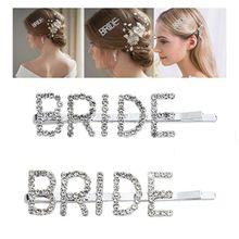Wedding Accessory Capital Bride Letters Hairpin Glitter Rhinestone Embellished Hair Clip Jewelry Bachelorette Party Barrettes rhinestone glitter embellished heel sandals
